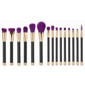 Cosmetic Brush,Clode® 15PCS Mini Make Up Foundation Eyebrow Eyeliner Blush Cosmetic Concealer Brushes