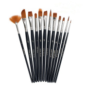 Tenn Well Painting Brushes, Nylon Hair Paintbrush Sets Acrylic, Oil, Watercolour, Gouache, Face Painting and Fine Detail
