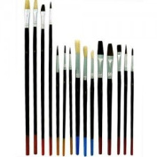 15 round brushes and a flat Fine Arts