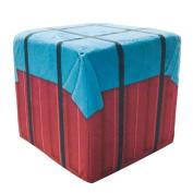 Beauymei PUBG Playerunknowns Battlegrounds Cube Shaped Airdrop Stuffed Throw Pillow Air Drops Storage Box