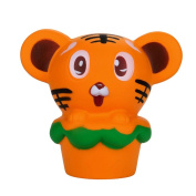 The Tiger Hamburger Squishy Toy,Mamum Hamburger Tiger Squishy Slow Rising Cream Scented Decompression Toy