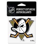 Anaheim Ducks Mighty Ducks Perfect Cut Decal 10cm x 10cm - Throwback Decal