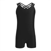 YiZYiF Girl's Team Basic Leotards Gymnastics Ballet Dance Unitard Bodysuit with Triple Straps Back