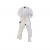 Prime Fitness Kids Karate Uniforms Suit 210ml White Colour Cotton Martial Arts Size 000 to 3