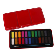 MagiDeal Solid Watercolour Paints Set of 24 Colours Artist Crafts School Stationery