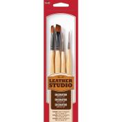 Plaid:Craft Nylon Leather Studio Decorative Brush Kit