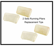 Replacement Tips for 2.5cm Top Tool Running Pliers - two pair; 4 tips in total
