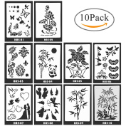DIY Drawing Painting Template Stencil,Aolvo Bullet Journal Stencil Set for Journal DIY Photo Album Notebook Diary Scrapbook Craft Projects 10 Pcs