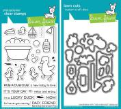Lawn Fawn Rub-a-Dub-Dub Clear Stamp and Coordinating Die Cut - 2 Item Bundle