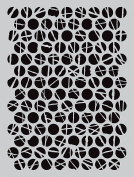 Darkroom Door Stencil 11cm x 15cm -Polka Dots