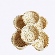 Storage Basket Femme 2017 Handmade Panier For Fruit Vegetable Egg Candy Small Cestas 6pcs/lot CX017