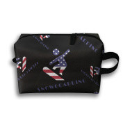 American Flag Snowboarding Waterproof Travel Bags Candy Colour Make Up Bags