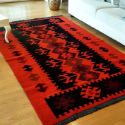 Modern Bohemian Style Area Rug & Runner, 1.5m x 2.4m, Washable, Natural Dye Colours, Two -sided, Perfect for Kitchen, Bedroom, Corridor, Living Room, Hallway