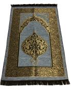 Luxury Islamic Prayer Rug Turkish Ottoman Stamp Sajadah Thin Prayer Rug Muslim Gift Eid Ramadan