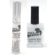 COSMETIC GLITTER FIX - FACE & BODY GLITTER GLUE for fixing loose glitter to skin
