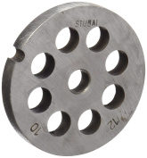 Stubai No. 10 Perforated Disc For Meat Mincing Maschine, Metal, Silver, 12 mm