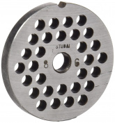 Stubai No. 8 Perforated Disc For Meat Mincing Maschine, Metal, Silver, 6 mm