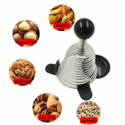 Stainless Steel Open Walnut Artefact Spring Nut Shell Cracker Creative Kitchen Tools Gadgets Spring Nutcracker