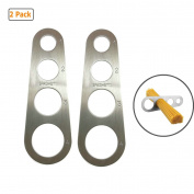 GuDoQi 2 Pack 4-Holes Stainless Steel Spaghetti Measurer Kitchen Measuring Tool