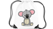 Children's Gym Sack Gymnastics Bag motif Koala - White, 35 x 44cm