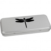 'Dragonfly' Metal Hinged Stationery Tin / Storage Box