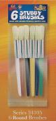 Kid Dynasty Brush Series - 6 Multi-Coloured Round Stubby Brushes