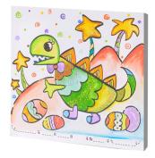DIY Kids Painting Colour Palette Canvas Hand Painting Set Diasours 24.5X24.5cm