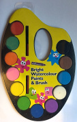 Great Expressions Bright Watercolour Paints and Brush with Palette