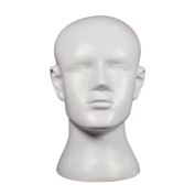 beiguoxia Plastic Men Stable Mannequin Head Model Mould Wigs Hats Glasses Display Stand