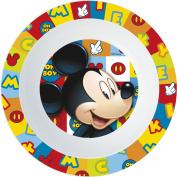 UNBRANDED 8020155 Mickey Mickey Icons Icons Bowl Plastic Micro ondable Diameter 16, 5 cm-8020155 Plastic Multi Colour 16 x 3, 7 cm