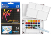 Sakura Arts 24-Colours/Set Assorted Watercolours Field Sketch Set With Brush