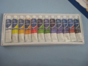 Set of 12 Tubes of Artist Acrylic assorted Paints, ST0948 by Phoenix