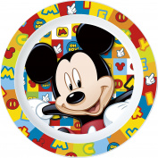 UNBRANDED 8020154 Mickey Mickey Icons Icons Flat Plate Plastic Micro ondable Diameter 22 cm-8020154 Plastic Multi Colour 1, 22 x 3 cm