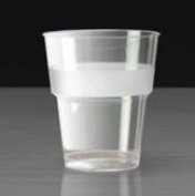 Thali Outlet® - 30 x 330ml Clear Plastic Strong Mixer Glasses Cups - Disposable Reusable