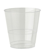 Thali Outlet® - 40 x 240ml Clear Plastic Strong Mixer Glasses Cups Disposable - Juice Wine Whisky