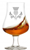 Whisky Nosing Glass With Scottish Thistle Design