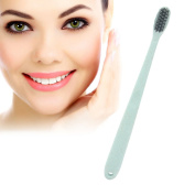 Activated Charcoal Whitening Toothbrush,Bamboo Charcoal Removes Plaque Stains, Fight Cavities, Whitens Teeth Bamboo Toothbrush