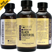IQ Natural's 100% Cold Pressed Jamaican Black Castor Oil [REGULAR SCENT] for Hair Growth and Skin Conditioning - 120ml Bottle