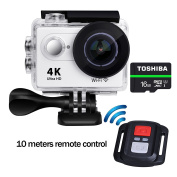 Waterproof Action Camera WIFI 4k Ultra HD Splashproof Rechargeable Sport Camera 5.1cm TFT LCD Screen 170 Degree Wild Angle With 16GB TF Card