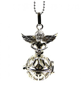 """Silver Metal """"Little Angel"""" Fantasy With Bola Pregnancy Necklace"""