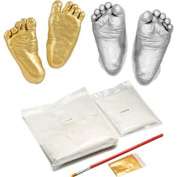 3D Baby Casting Kit Foot Hand Print Gift Baby Shower Wedding Anniversary (Gold Silver)