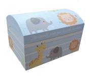 Baby Boy Keepsake Hinged Treasure Chest Toy Storage Box Baby Shower - Small 40cm