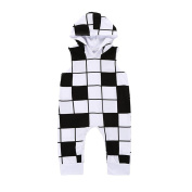squarex Baby Clothes, Infant Baby Boys Girls Plaid Print Hooded Romper Jumpsuit Clothes Outfits