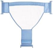 Fostly Adjustable Bath Tub Net Support Net Safety Security Bath Net Mesh Bathing Sling Non-Slip Bathtub Net for Baby Blue