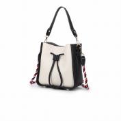Hit Colour Bucket Female Bag Shoulder Bag Single Messenger Bag Fashion Simple Bag , black