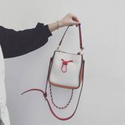 Bucket Bags Bag Fashion Lychee Hit Colour Shoulder Bag Messenger Messenger Bag , white