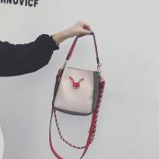 Bucket Bags Bag Fashion Lychee Hit Colour Shoulder Bag Messenger Messenger Bag , pink