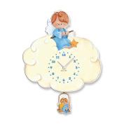 "Aracne Italy ""Pendulum BLUE ANGEL Clock"" 27X37 cm"