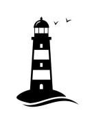 Lighthouse with birds Vinyl Decal Sticker
