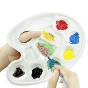 J*myi Pair of Oval Paint Tray Palettes Painting Mixing Plate with Thumb Hole